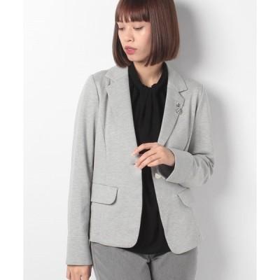 【ラピーヌ ブルー】グログランジャージージャケット
