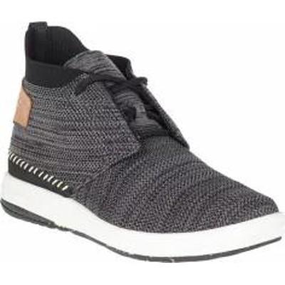Merrell レディーススニーカー Merrell Gridway Mid Sneaker Black Knit