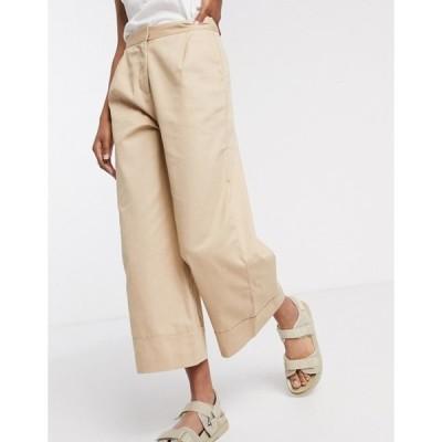 セレクティッド レディース カジュアルパンツ ボトムス Selected Femme culottes in beige