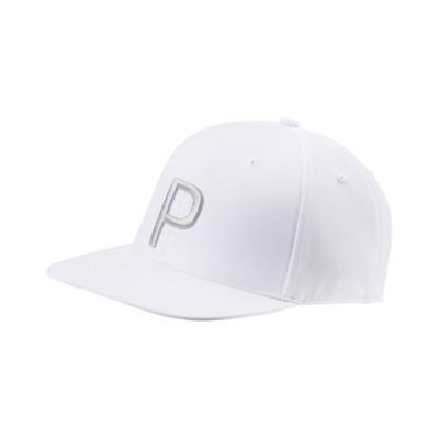 【プーマ】 ゴルフ Pマークスナップバックキャップ メンズ BRIGHTWHITEHEATHER OSFA PUMA