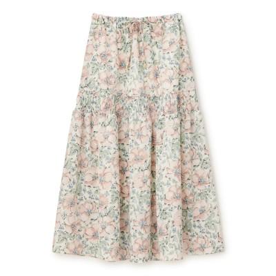 シュープリームララ Supreme.La.La. ピオニーフラワーギャザースカート (ピンク)