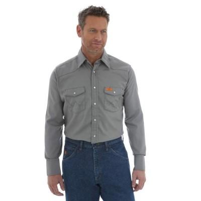 ラングラー メンズ シャツ トップス Flame Resistant Snap Long Sleeve Lightweight Work Shirt
