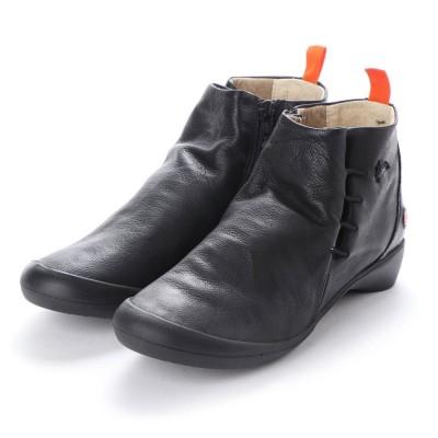 ヨーロッパコンフォートシューズ EU Comfort Shoes Softinos ショートブーツ(900.489) (ブラック)