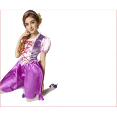 【レディ】ロイヤルラベンダープリンセス【ラプンツェル】【ドレス】【プリンセス】【姫】【ハロウィン】【コスプレ】【コスチューム】【