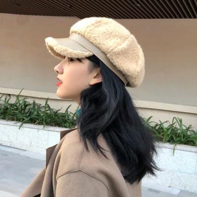 キャスケット 帽子 ベレー帽 レディース チェック ハット バケットハット ハンチング シルクハット 可愛い かわいい ファッション おしゃれ 春 秋 冬 暖かぃ