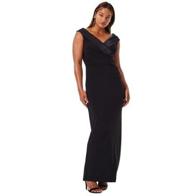 ラルフローレン ワンピース トップス レディース Sleeveless Portrait-Collar Draped Gown Black