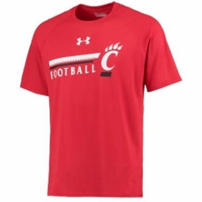 Under Armour アンダー アーマー スポーツ用品  Under Armour Cincinnati Bearcats Red Football DNA Tech Performance T-