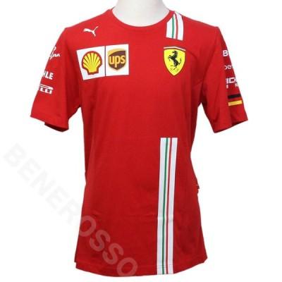 PUMA スクーデリア フェラーリ チーム S.ベッテル Tシャツ 2020 レッド 763038-01