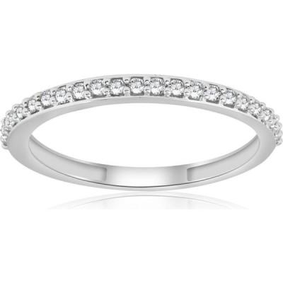 ポンペイ Pompeii3 レディース 指輪・リング ジュエリー・アクセサリー 1/8ct Stackable Diamond Wedding Ring 10k White Gold