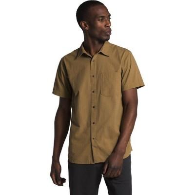 ノースフェイス シャツ メンズ トップス Short Sleeve Baytrail Pattern Shirt - Men's British Khaki