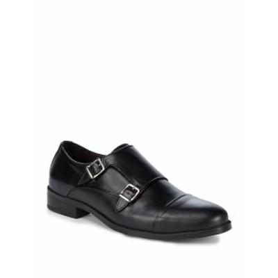 サックスフィフスアベニュー メンズ シューズ モンクストラップ Leather Monk Strap Shoes
