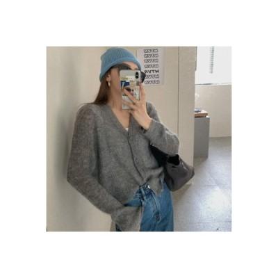 【送料無料】ルース 何でも似合う ニットのセーター シャツ 秋 薄いスタイル 単一色 | 364331_A63578-2383643