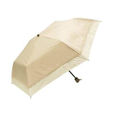 macocca / 完全遮光晴雨兼用折りたたみ傘 makez. レース切替柄 WOMEN ファッション雑貨 > 折りたたみ傘