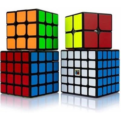 スピードキューブ セット 競技用 2x2 3x3x3 4x4x4 5x5x5 四個セット 黒素体 世界基準六色 こども 脳トレ 知育玩具 国際キューブ協会段落