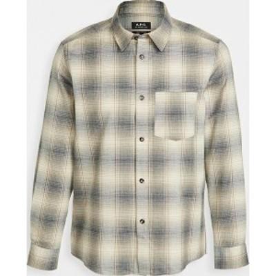 (取寄)アーペーセー ジョン チェッカー シャツ A.P.C. John Checker Shirt Beige