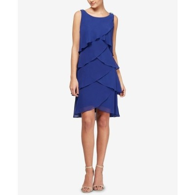 エス エル ファッションズ ワンピース トップス レディース Tiered Chiffon Dress Iris