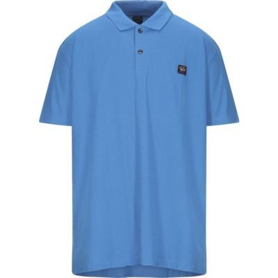 ポール シャーク PAUL & SHARK メンズ ポロシャツ トップス polo shirt Bright blue
