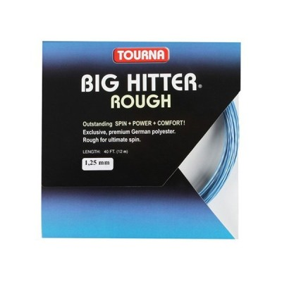 [お試し12Mカット品]トーナ ビッグヒッター ラフ ブルー(1.20/1.25/1.30mm)硬式テニスガット ポリエステル(Tourna Big Hitter Rough Blue String)(15y6m)