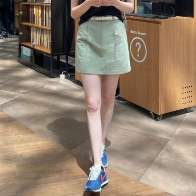 BANHARU レディース スカート Cello linen mini skirt