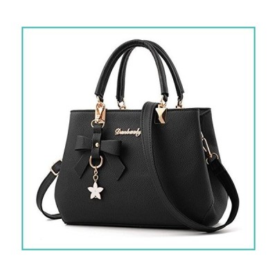 Dreubea Womens Handbag Tote Shoulder Purse Leather Crossbody Bag Black【並行輸入品】