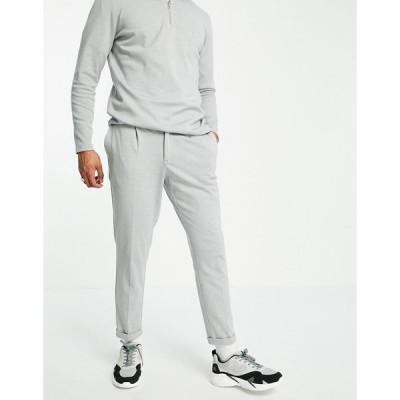ニュールック カーゴパンツ メンズ New Look co-ord trousers in grey エイソス ASOS グレー 灰色
