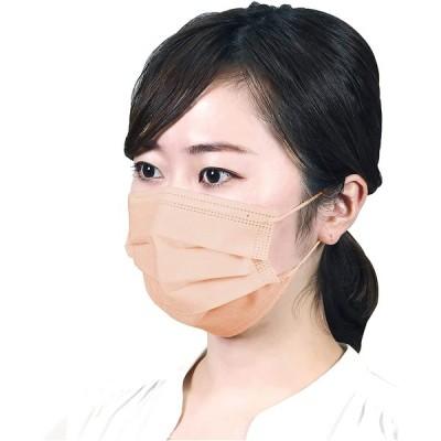 アーテック 血色マスク 不織布 3層 立体 プリーツ ソフト快適マスク レギュラー 10枚入 おしゃれ カラフル パステル カラー オレンジ 5181