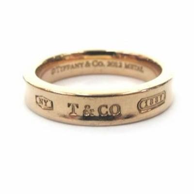 【中古】ティファニー 創業175周年モデル 1837 ナロー リング ルベドメタル Rubedo 9号 指輪 ピンクゴールドカラー