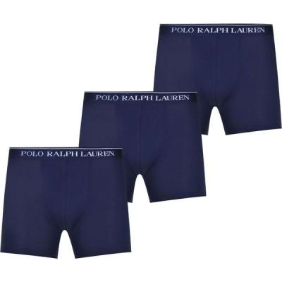 ラルフ ローレン Polo Ralph Lauren メンズ ボクサーパンツ 3点セット インナー・下着 3 Pack Logo Trunks Cruise Navy