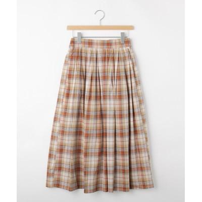 OFF PRICE STORE(Women)(オフプライスストア(ウィメン)) ◆KOEマドラスチェックギャザースカート