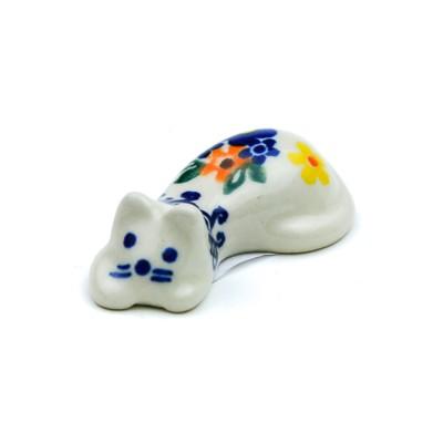 Polish Pottery ポーリッシュポタリー ねこの箸置き レディース ホワイト