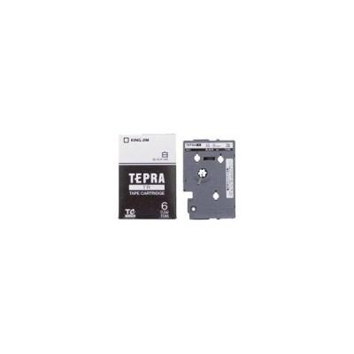 (まとめ)キングジム テプラTRテープ TC6S 白に黒文字 6mm〔×3セット〕