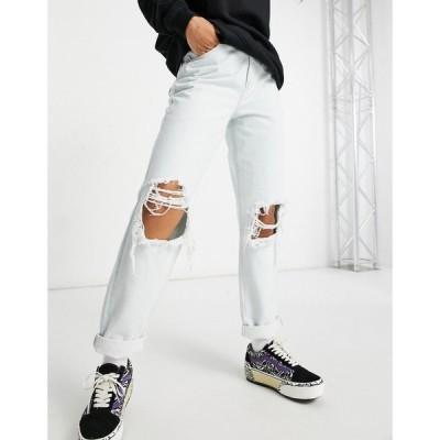 エイソス ASOS DESIGN レディース ジーンズ・デニム Asos Design Organic High Rise 'Slouchy' Mom Jean In Antique White With Extreme Rips