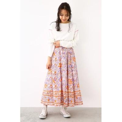 【ロデオクラウンズワイドボウル】 small bouquetスカート レディース 柄PNK5 FREE RODEO CROWNS WIDE BOWL