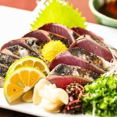 【新型コロナ被害支援品】本生!老舗鮮魚問屋が厳選した本格カツオ藁焼きタタキセット(400g)