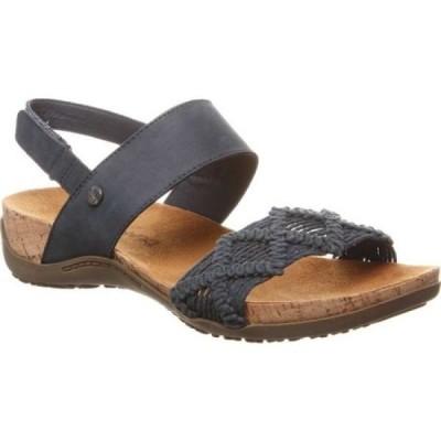 ベアパウ Bearpaw レディース サンダル・ミュール シューズ・靴 Emerson Slingback Navy Faux Leather/Macrame