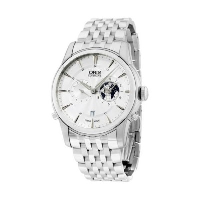 Oris オリス Artelier GMT Automat. ホワイト ダイヤル ステンレス スチール メンズ 腕時計 690-7690-4081MB