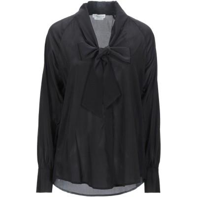バランタイン BALLANTYNE シャツ ブラック 40 シルク 93% / ポリウレタン 7% シャツ