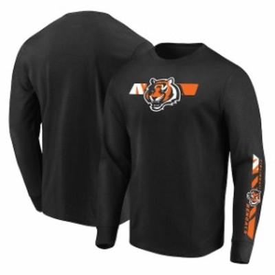 Majestic マジェスティック スポーツ用品  Majestic Cincinnati Bengals Black Dual Threat Long Sleeve T-Shirt