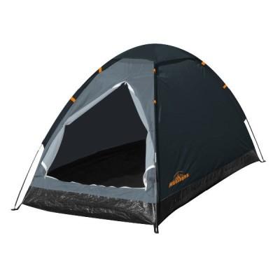 「ソロキャンプやツーリングに大活躍!」Montagna(モンターナ) 組立式 1人用ドームテント HAC2695-ネイビー(21y2m)