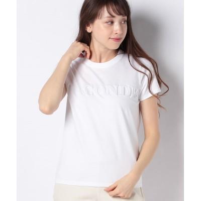 【マダム ジョコンダ】 エンボス ロゴTシャツ レディース ホワイト 40 MADAM JOCONDE