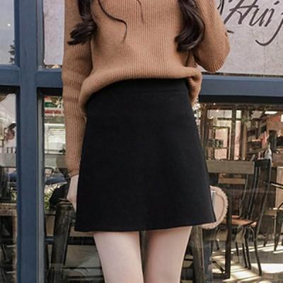 タイトスカート ラシャスカート 秋冬スカート 台形スカート