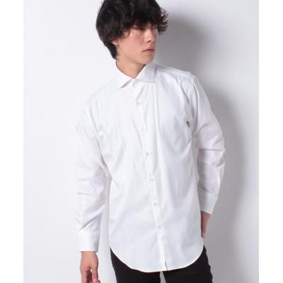 【オールドイングランド】 ジャカード素材シャツ メンズ ホワイト L OLD ENGLAND
