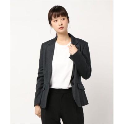 INTERPLANET/actuel / 【セットアップ対応】NEWウールジャージジャケット WOMEN ジャケット/アウター > テーラードジャケット