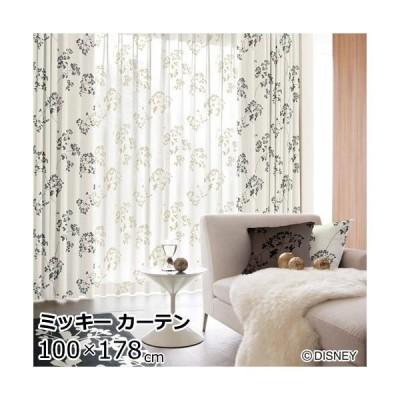 ディズニー 遮光カーテン 100×178cm(1枚入り)ミッキー/トウィッグリーフ 既製カーテン/ウォッシャブル/形状記憶加工/遮光カーテン  Disney HOME SERIES