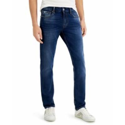 ゲス メンズ デニムパンツ ボトムス Men's Slim Tapered Jeans Dark Crinkle Wash