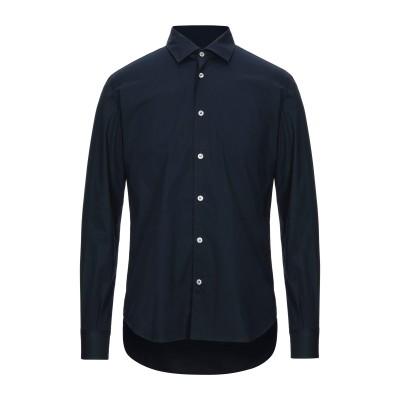 DOMENICO TAGLIENTE シャツ ダークブルー 38 コットン 72% / ナイロン 25% / ポリウレタン 3% シャツ