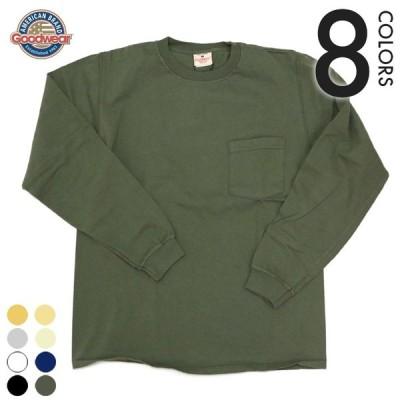 グッドウェア ロングスリーブ ポケットTシャツ GW030007 Goodwear