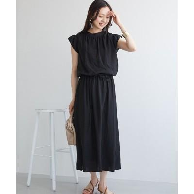 フリル袖ロングワンピース (ワンピース)Dress