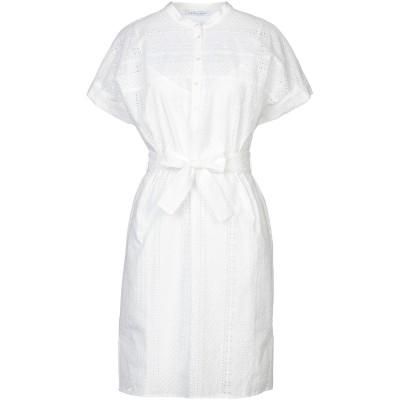 CARACTÈRE ミニワンピース&ドレス ホワイト 42 コットン 60% / ポリエステル 40% / レーヨン ミニワンピース&ドレス