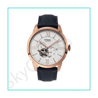 Fossil Men's Townsman Auto Automatic Leather Multifunction Watch, Color: Rose Gold, Navy (Model: ME3171)【並行輸入品】